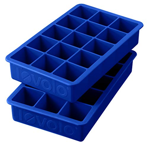 Tovolo Perfect Cube Ice Mold Trays, Sturdy Silicone, Fade Resistant