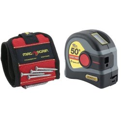 MagnoGrip Magnetic Wristband with LTM1 2-in-1 Laser Tape Measure