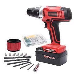 Cordless Drill, WORKSITE 18-Volt 1200mA Ni-cd Battery Powerful