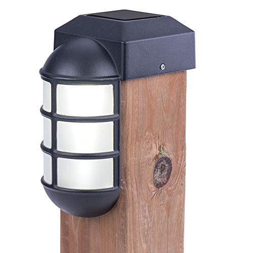 Sterno Home Paradise Solar Cast LED Post Cap Light for 4x4 Posts