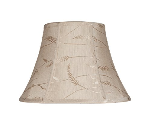 Aspen Creative Transitional Bell Shape Spider Construction Lamp Shade