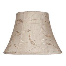 Aspen Creative Transitional Bell Shape Spider Construction Lamp Shade
