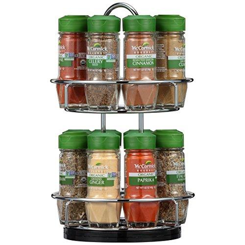 McCormick Two Tier Chrome Organic Spice Rack