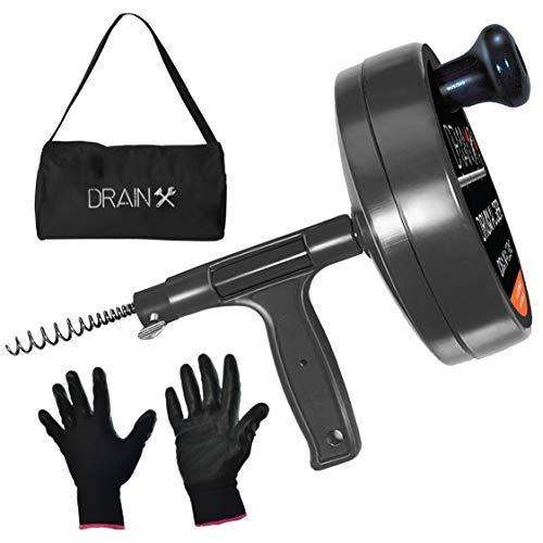 Drainx Pro Steel Drum Auger Plumbing Snake | Heavy Duty
