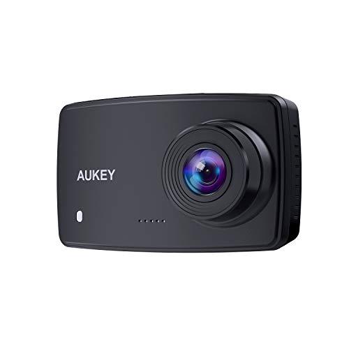 AUKEY Dash Cam, 1080p Dash Camera for Cars with 6-Lane Lens