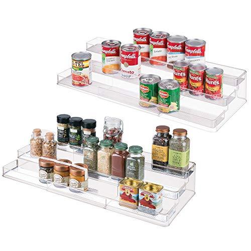 mDesign Large Plastic Adjustable, Expandable Kitchen Cabinet