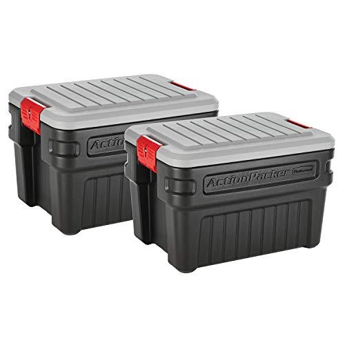 Rubbermaid ActionPacker️ 24 Gal Lockable Storage Box Pack of 2