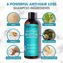 Biotin Shampoo For Hair Growth Advanced Formula Sulfate-Free Shiny Leaf Advanced Formula Biotin Shampoo for hair progress incorporates plentiful quantities of hair progress enhancing components. These embody Biotin or Vitamin B7, Noticed Palmetto, Keratin Amino Acids, and different pure plant extracts. Excellent for thinning hair, this unbelievable combine helps make hair look fuller and thicker. For hair loss and hair fall points, select Shiny Leaf Biotin Shampoo.
