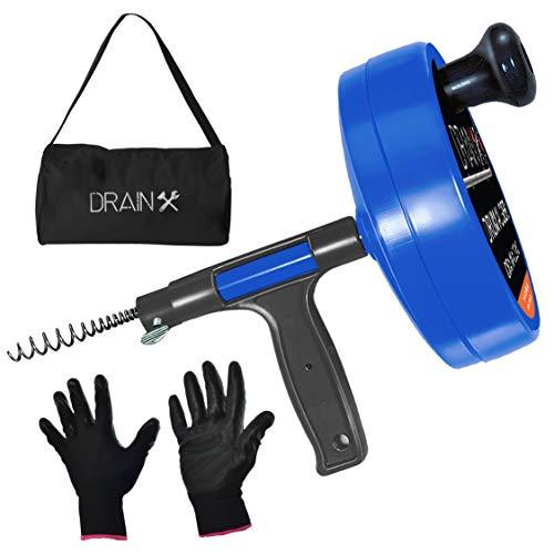 Drainx Pro 35-FT Steel Drum Auger Plumbing Snake