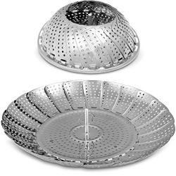 Utopia Kitchen Vegetable Steamer Basket - 100 Percent Premium Stainless Steel