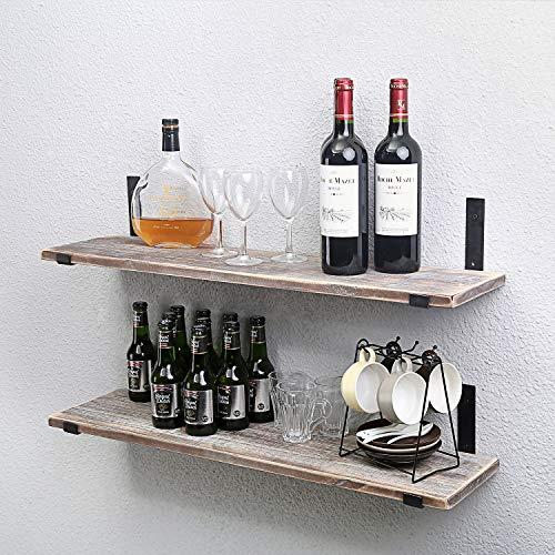 Industrial Rustic Wall Mounted Kitchen Wood Wall Shelf