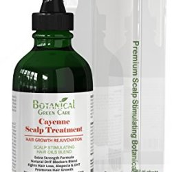 Cayenne Hair Loss Scalp Treatment. DHT Blocker, Organic Hair Growth Oil