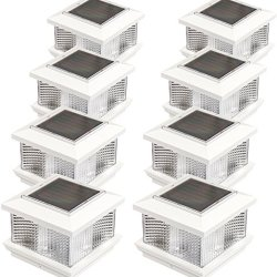 GreenLighting (8 Pack) Solar LED Post Cap Light