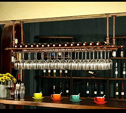 WGX Design For You Wine Bar Wall Rack 60'' Hanging Bar Glass Rack