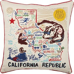 Primitives by Kathy Home State California Republic Decorative Throw Pillow