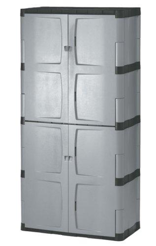 Rubbermaid 72-Inch Four-Shelf Double-Door Resin Storage Cabinet