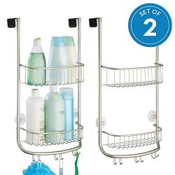 InterDesign Forma Metal Bathroom Over the Door Shower Caddy