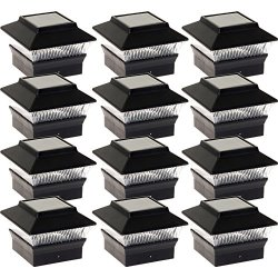 12 Pack Solar Power Square Outdoor Post Cap Lights