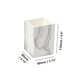 3 Pack White Marble Print ABS Desk Pen Holder Cup We consider no matter is price doing is price doing properly!