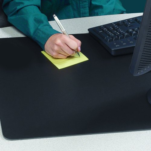 "Rhinolin II Ultra-Smooth Writing Pad Desk Mat with Exclusive Artistic 24"" x 36"" Rhinolin II Ultra-Smooth Writing Pad Desk Mat with Exclusive Microban Antimicrobial Protection, Black"