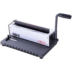 INTBUYING Manual Spiral Coil Binder Puncher 34 Holes Book
