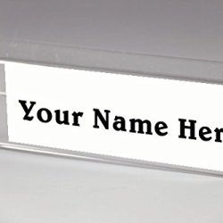 "6"" x 4"" Cubicle Name Plates 6"" Wide x 4"" high x 2"" deep Hook"