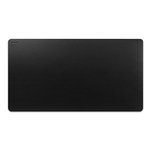 Nekmit Leather Desk Blotter Pad 34 x 17 Inches, Waterproof, Non-Slip, Black