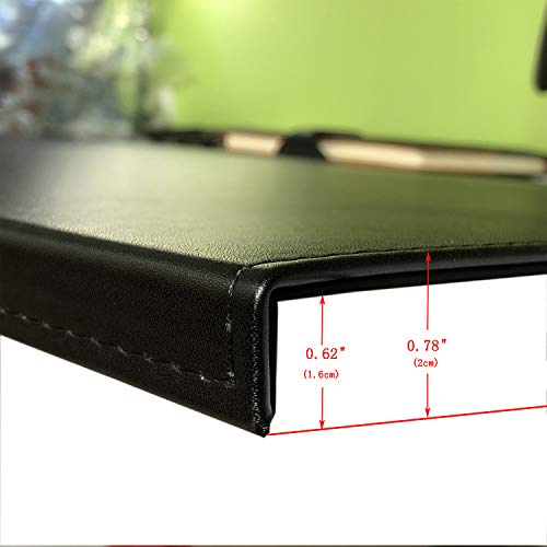 "Non-Slip Soft Leather Surface Office Desk Mouse Mat Pad with Full Grip Non-Slip Soft Leather Surface Office Desk Mouse Mat Pad with Full Grip Fixation Lip Table Blotter Protector 35.4""x 15.8"" Leather Mat Edge-Locked(Black)"