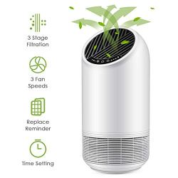BestAir Air Purifier, Home & Office Air Cleaner with True HEPA Filter for Allergies and Pets, Smokers, Pollen, Mold, Quiet Odor Eliminator