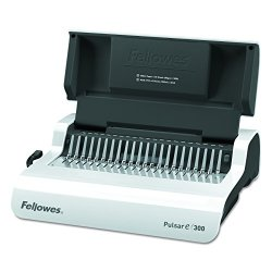 Fellowes Pulsar Electric Comb Binding System, 300 Sheets Fellowes 5216701 Pulsar Electric Comb Binding System, 300 Sheets, 17 x 15 3/8 x 5 1/8, White.