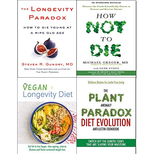 How Not To Die, Longevity Paradox [Hardcover], Vegan Longevity Diet