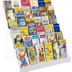 Displays2go Wire Countertop Literature Rack, 6-Tier Brochure Organizer