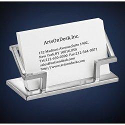ArtsOnDesk Modern Art Business Card Holder St201 Stainless Steel