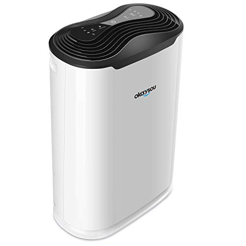"Okaysou AirMax8L 19.4"" 5-in-1 Air Purifier for Home Large Room"