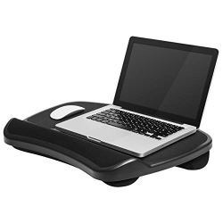 LapGear Laptop Lap Desk - Black - Fits up to 15.6 Inch laptops