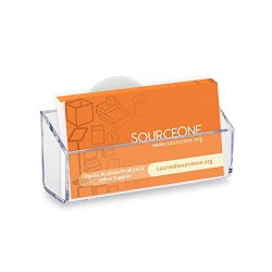 Source One Clear Gift Card Holder Business Card Holder
