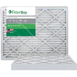 FilterBuy 30x30x1 MERV 8 Pleated AC Furnace Air Filter, (Pack of 4 Filters)