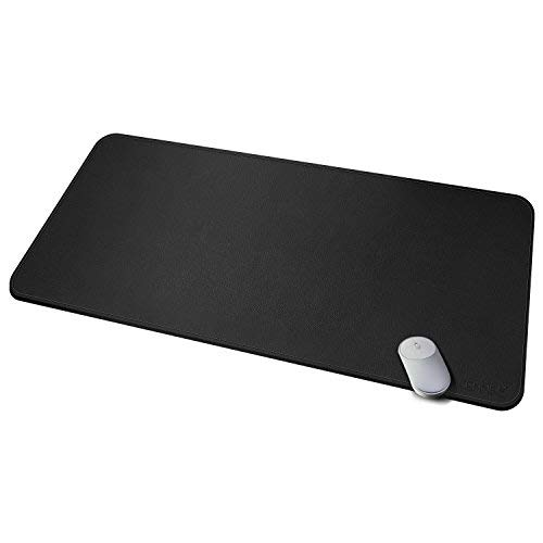 CENNBIE Desk Pad Protecter 47.219.6in Super Large, PU Leather Desk Mat Blotters Organizer with Comfortable Writing Surface(Black)