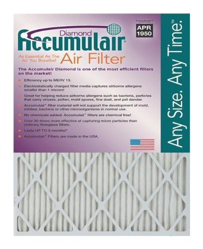 Accumulair Diamond 30x30x1 (Actual Size) MERV 13 Air Filter/Furnace Filters