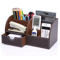 KINGFOM Desk Organizer Set 9 PCS Office Supplies Set File Holder Cabinet