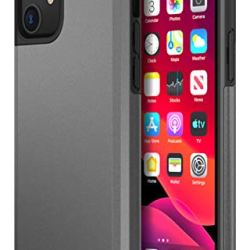 Protanium Case Designed for Apple iPhone 11 Case (2019) (6.1-inch) Heavy Duty Protection/Shock Absorption/Dual Layer TPU/Rigid Back Armor/Scratch Resistant/Reinforced Corner Frame - Gunmetal