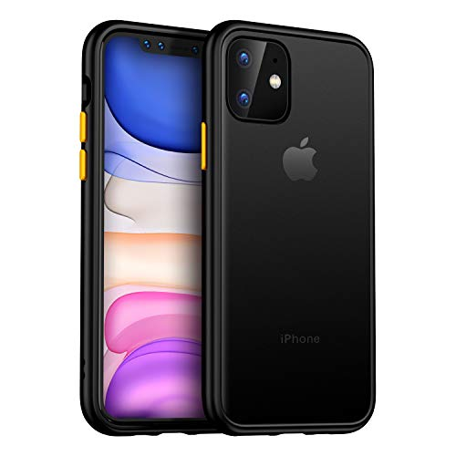 MKOAWA for iPhone 11 Case, Contrasted Color Series Designed for Apple iPhone 11 Case 6.1 Inch (2019) - Black
