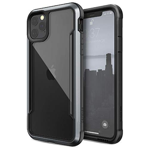 Defense Shield Series, iPhone 11 Pro Max Case - Military Grade Drop Tested, Anodized Aluminum, TPU, and Polycarbonate Protective Case for Apple iPhone 11 Pro Max, (Black)