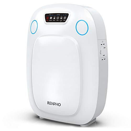 RENPHO Ture HEPA Air Purifier for Home Large Room, Air Purifier for Allergies and Pets, Indoor Air Cleaner for Office Kitchen, Eliminate Odors Smokers Mold Pollen Dust for Bedroom, Auto Mode and Timer