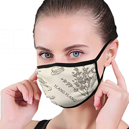 Bottles Essential Oils Healthcare Medical Oil Full Seal Pollution Mask For Men & Women - Reusable Cotton Air Filter Mask With Adjustable Ear Loops Perfect For Blocking Pollution Dust Pollen And Germs
