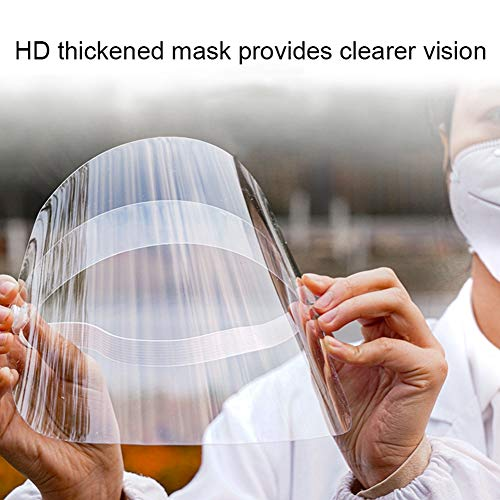 Anntool Anti-Spitting Protective Mask PVC Full Face Shield Adjustable Anti-Dust Protective Gear Face Shield for Outdoor