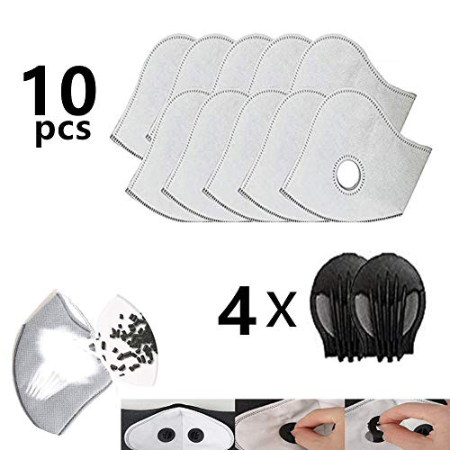 Activated Carbon PM2.5 Filters Air Purifier Active Carbon Filters for Mesh or Neoprene Mask with Exhaust Valves Replacement Dust for Reusable Dust Pollution Mask Air Purifier (in Stock)
