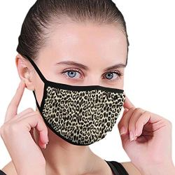 Dust Mask Unique Leopard Print Fashion Anti-dust Reusable Cotton Comfy Breathable Safety Mouth Masks Half Face Mask for Women Man Running Cycling Outdoor