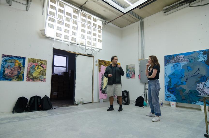 Delphine studio visit