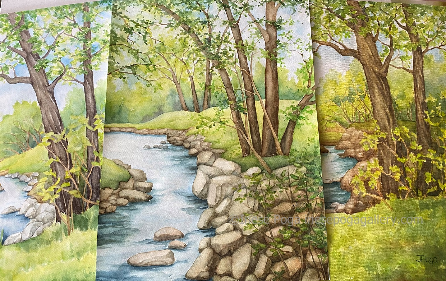 Watercolor nature, as seen in imagination